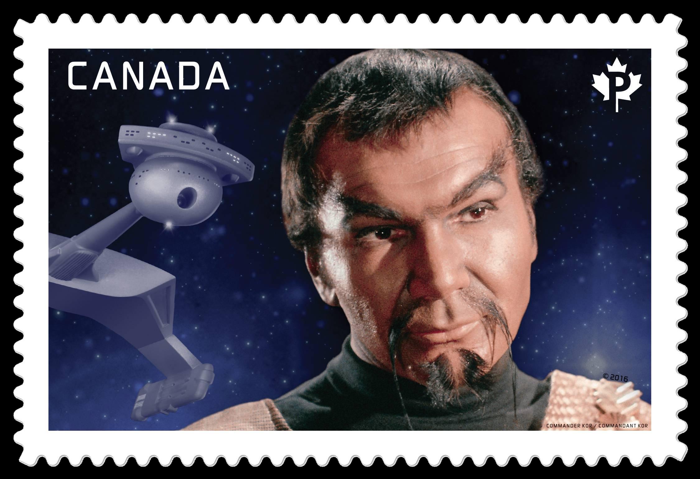 Commander Kor - Star Trek Canada Postage Stamp   Star Trek