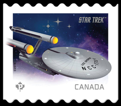 U.S.S. Enterprise NCC-1701 - Star Trek Canada Postage Stamp | Star Trek