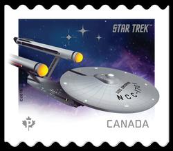 U.S.S. Enterprise NCC-1701 - Star Trek Canada Postage Stamp | Star Trek