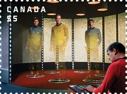 Transporter - Star Trek Canada Postage Stamp | Star Trek