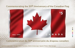 Canadian Flag 50th Anniversary Canada Postage Stamp