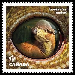Acrotholus Audeti Dinosaur Canada Postage Stamp | Dinos of Canada
