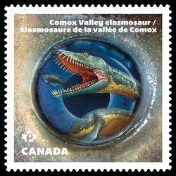 Comox Valley Elasmosaur Dinosaur Canada Postage Stamp | Dinos of Canada