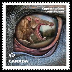 Cypretherium Coarctatum (Terminator Pig) Dinosaur Canada Postage Stamp | Dinos of Canada