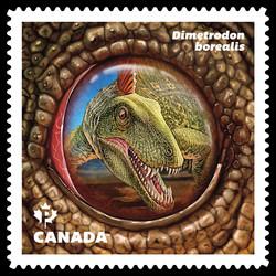 Dimetrodon Borealis Dinosaur Canada Postage Stamp | Dinos of Canada