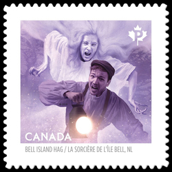 The Bell Island Hag - Bell Island, Newfoundland Canada Postage Stamp | Haunted Canada
