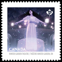 The Elgin and Winter Garden Theatre Centre - Toronto Canada Postage Stamp | Haunted Canada