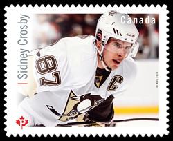 Sidney Crosby Canada Postage Stamp | Great Canadian NHL Hockey Forwards