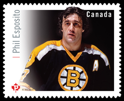 Phil Esposito Canada Postage Stamp | Great Canadian NHL Hockey Forwards