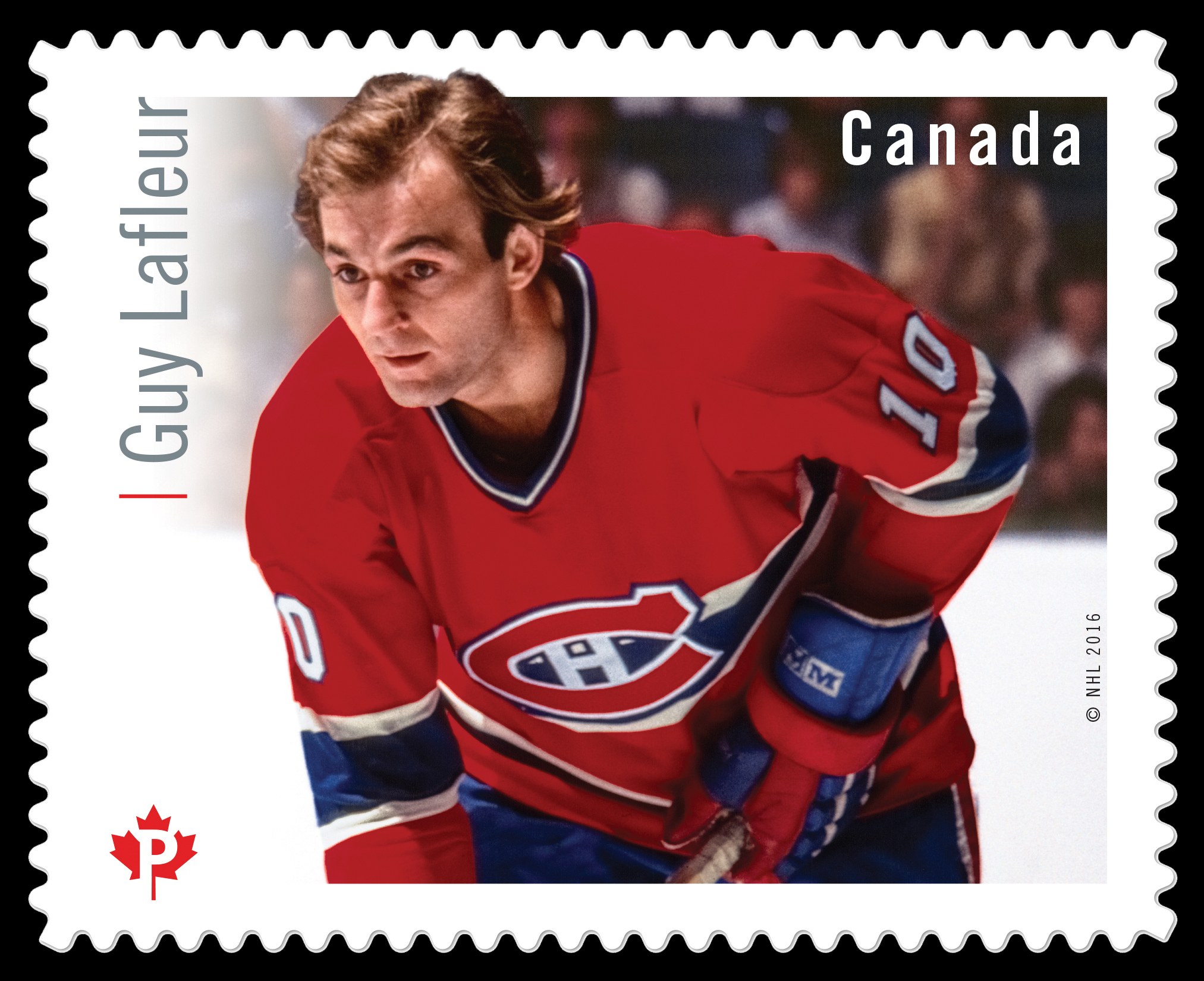 Guy Lafleur Canada Postage Stamp | Great Canadian NHL Hockey Forwards
