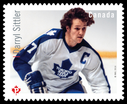 Darryl Sittler Canada Postage Stamp | Great Canadian NHL Hockey Forwards