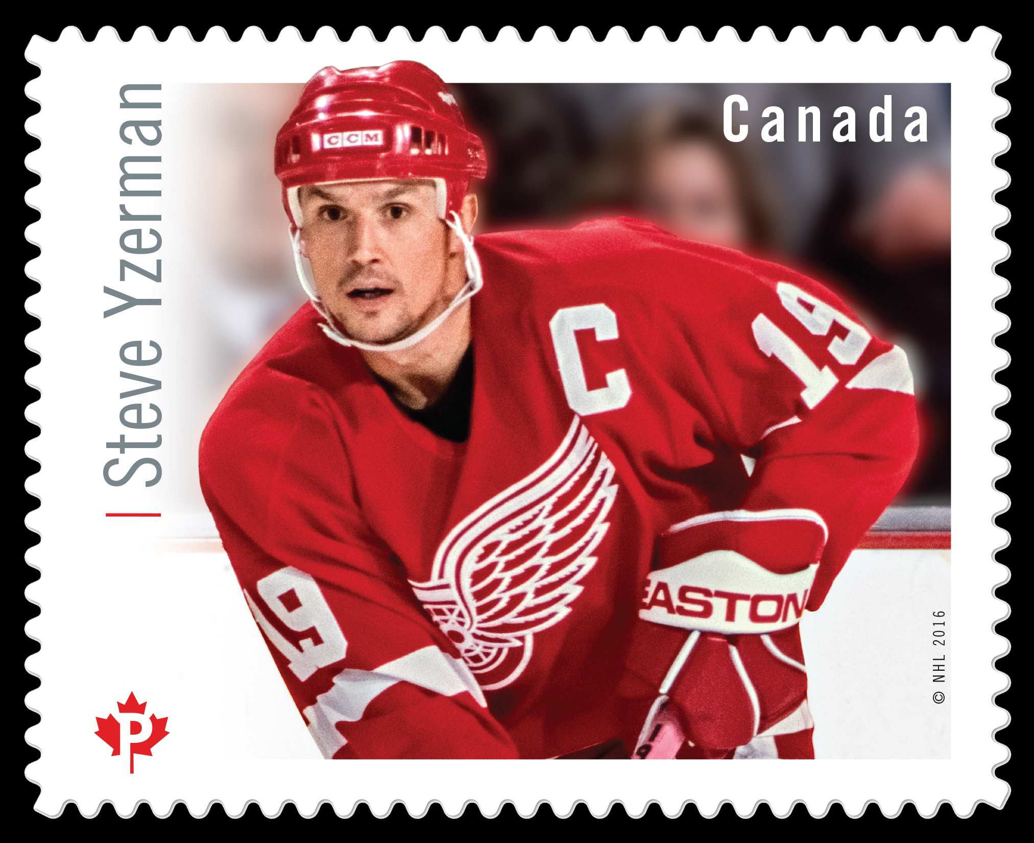 Steve Yzerman Canada Postage Stamp   Great Canadian NHL Hockey Forwards