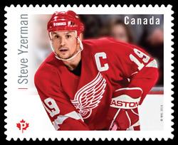Steve Yzerman Canada Postage Stamp | Great Canadian NHL Hockey Forwards