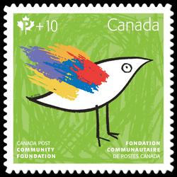 Canada Post Community Foundation 2016 - Green Canada Postage Stamp | Canada Post Community Foundation 2016