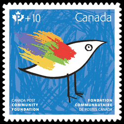 Canada Post Community Foundation 2016 - Blue Canada Postage Stamp | Canada Post Community Foundation 2016