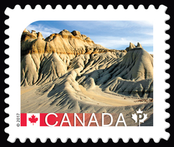 Dinosaur Provincial Park - UNESCO World Heritage Site Canada Postage Stamp | UNESCO World Heritage Sites in Canada