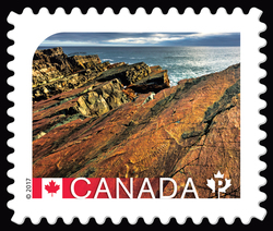 Mistaken Point - UNESCO World Heritage Site Canada Postage Stamp | UNESCO World Heritage Sites in Canada