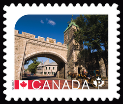 Historic District of Old Quebec - UNESCO World Heritage Site Canada Postage Stamp | UNESCO World Heritage Sites in Canada