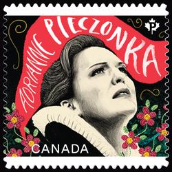 Soprano Adrianne Pieczonka - Canadian Opera Canada Postage Stamp | Canadian Opera