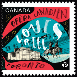 Louis Riel by Harry Somers - Canadian Opera Canada Postage Stamp | Canadian Opera