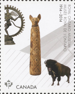 Royal Ontario Museum - Mummified Cat and the Shiva Natajara Sculpture  Canada Postage Stamp | Royal Ontario Museum (ROM)