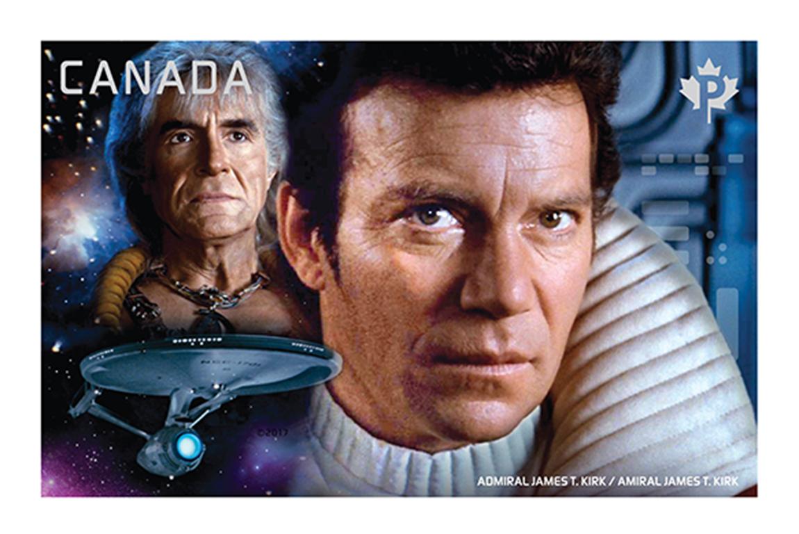Admiral James T. Kirk vs. Khan Noonien Singh Canada Postage Stamp | Star Trek