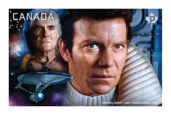Admiral James T. Kirk vs. Khan Noonien Singh Canada Postage Stamp | Star Trek