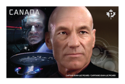 Captain Jean-Luc Picard vs. Locutus of Borg Canada Postage Stamp | Star Trek