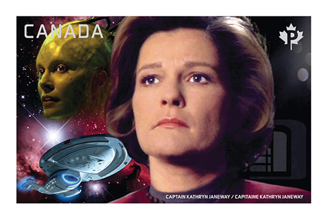 Captain Kathryn Janeway vs. the Borg Queen Canada Postage Stamp | Star Trek