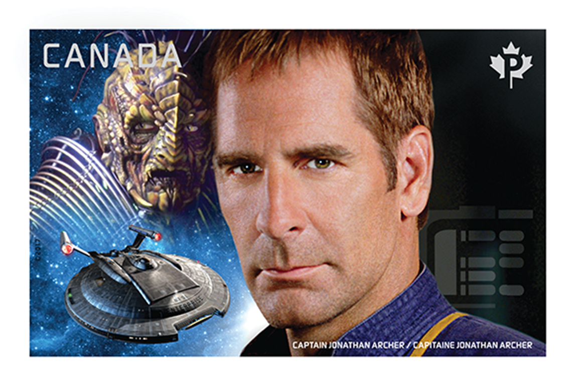 Captain Jonathan Archer vs. Commander Dolim Canada Postage Stamp