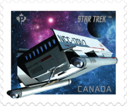 Galileo - The Shuttlecraft Canada Postage Stamp | Star Trek