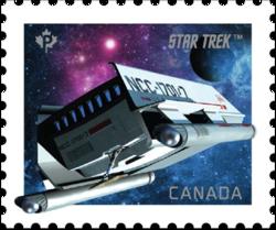 Galileo - The Shuttlecraft Canada Postage Stamp | Star Trek