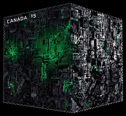 The Borg Canada Postage Stamp | Star Trek