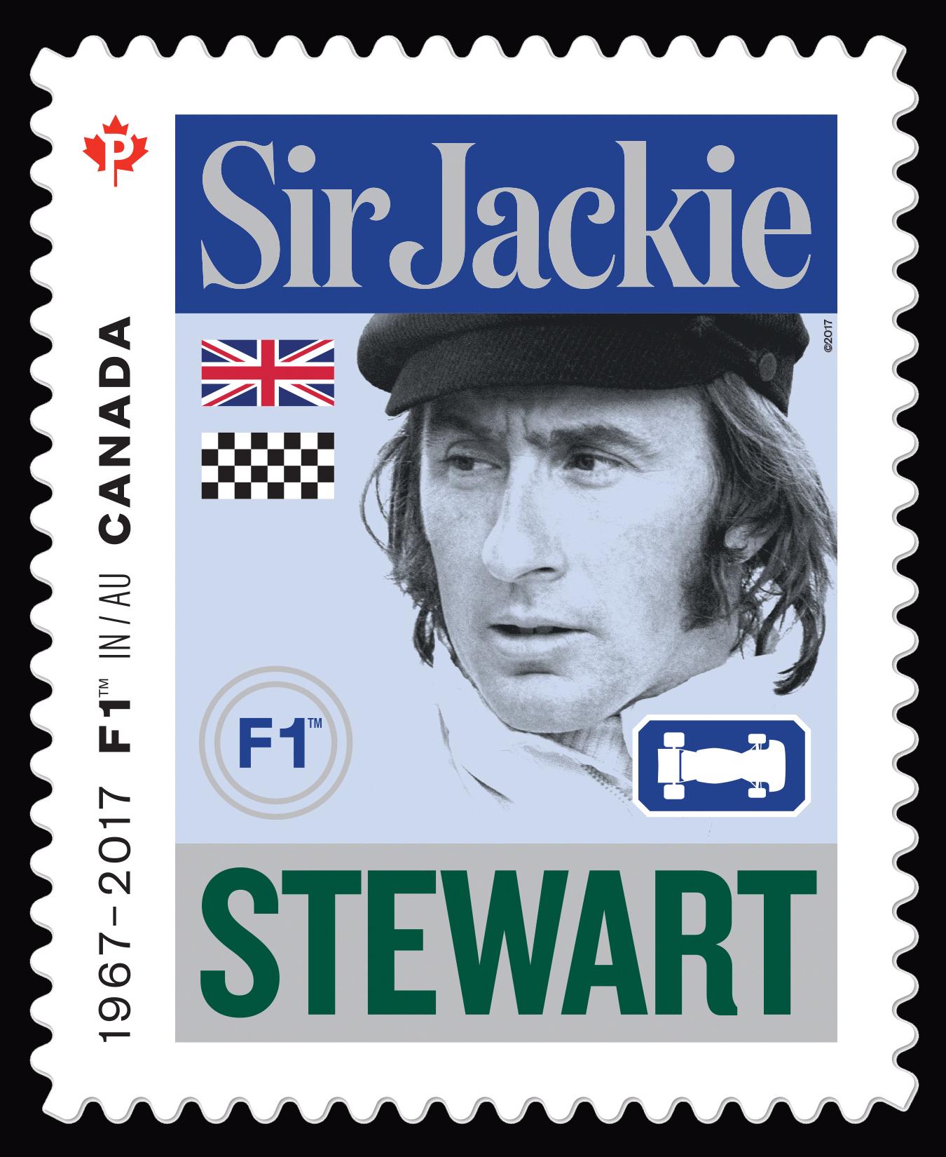 Sir Jackie Stewart - Formula 1 Canada Postage Stamp