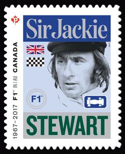 Sir Jackie Stewart - Formula 1 Canada Postage Stamp | Formula 1 Racing - 50th Anniversary