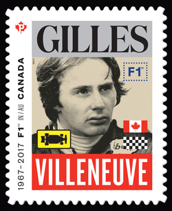 Gilles Villeneuve - Formula 1 Canada Postage Stamp | Formula 1 Racing - 50th Anniversary