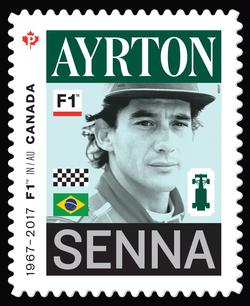 Ayrton Senna - Formula 1 Canada Postage Stamp | Formula 1 Racing - 50th Anniversary