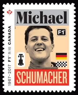 Michael Schumacher - Formula 1 Canada Postage Stamp | Formula 1 Racing - 50th Anniversary