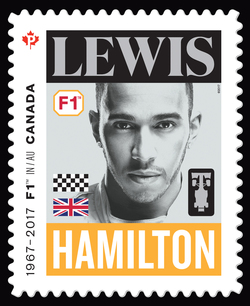 Lewis Hamilton - Formula 1 Canada Postage Stamp | Formula 1 Racing - 50th Anniversary