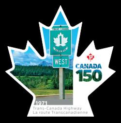 Trans-Canada Highway - Canada 150 Canada Postage Stamp | Canada 150