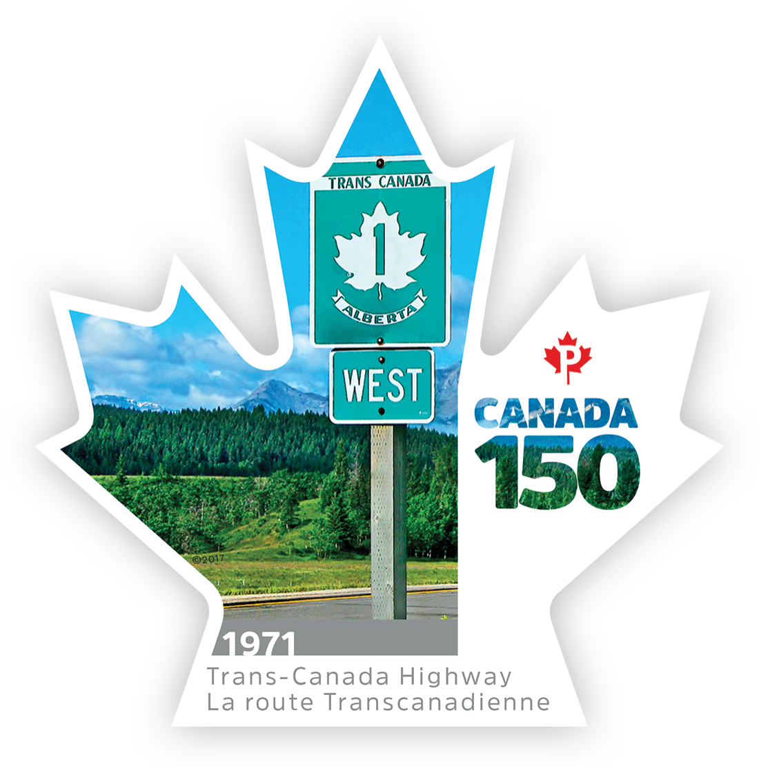 Trans-Canada Highway - Canada 150 Canada Postage Stamp