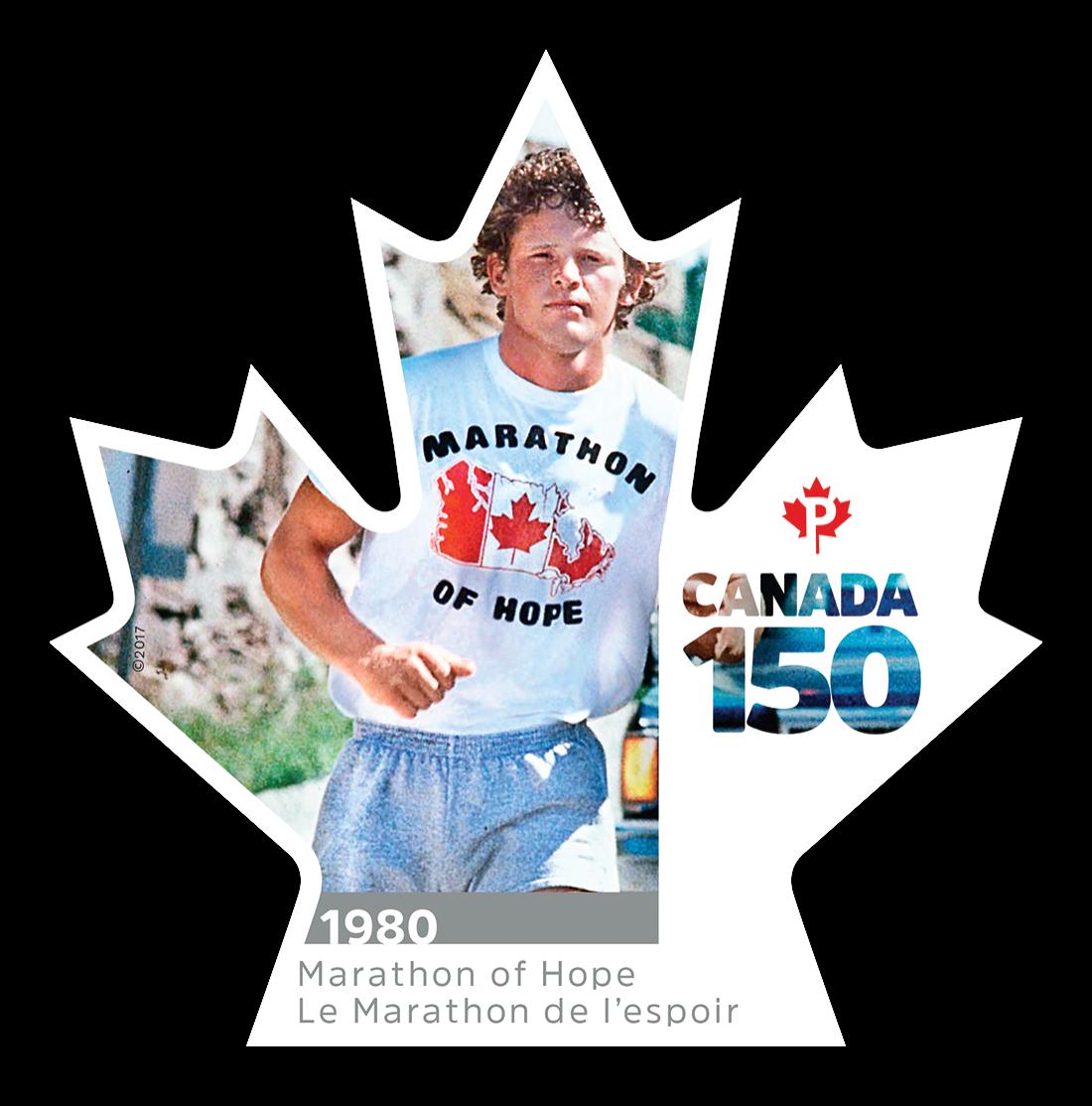 Marathon of Hope - Canada 150 Canada Postage Stamp   Canada 150