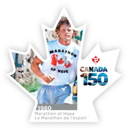 Marathon of Hope - Canada 150 Canada Postage Stamp | Canada 150