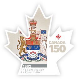 The Constitution and the Canadian Charter of Rights and Freedoms - Canada 150 Canada Postage Stamp
