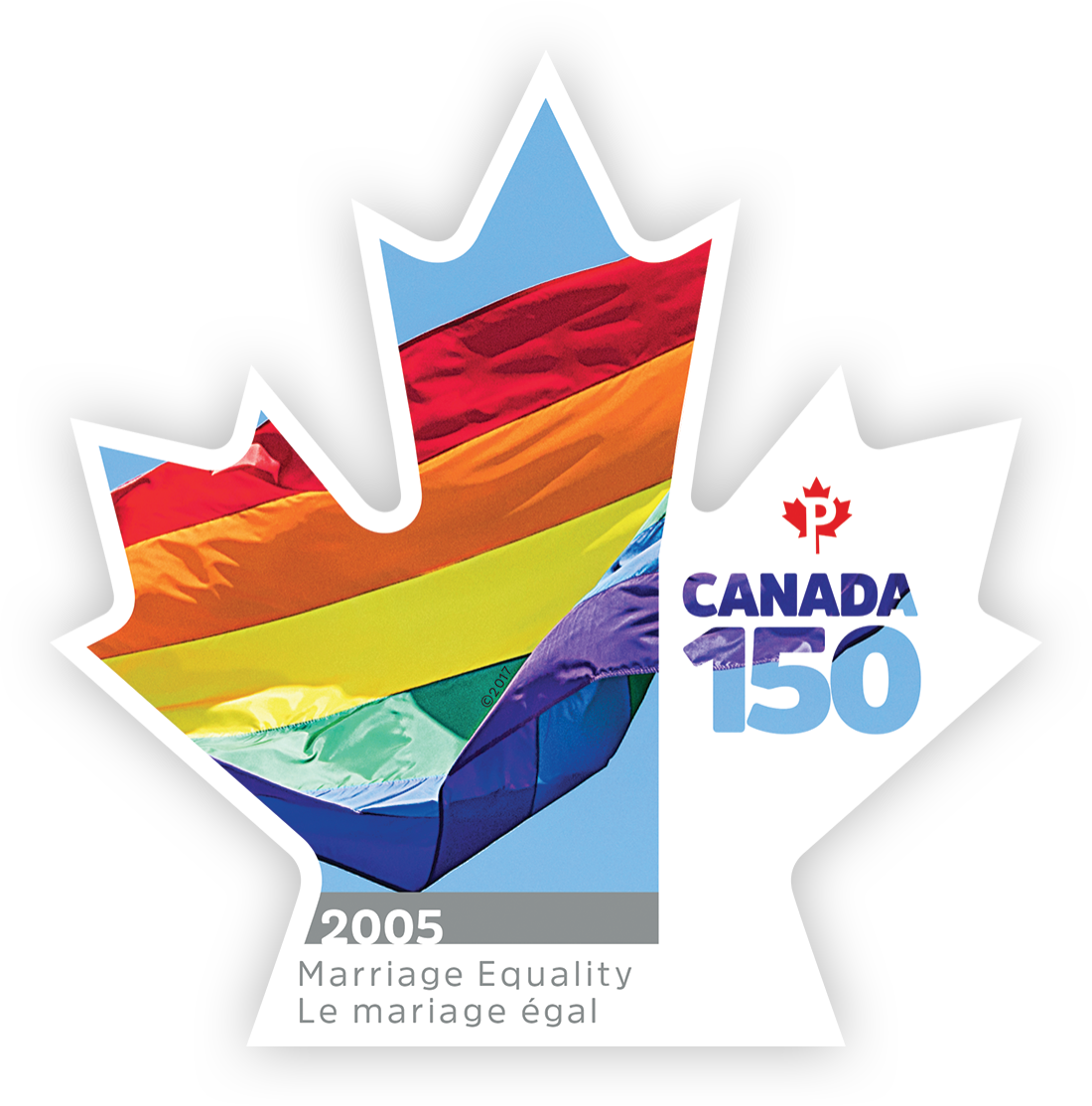 Marriage Equality - Canada 150 Canada Postage Stamp   Canada 150
