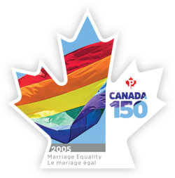 Marriage Equality - Canada 150 Canada Postage Stamp