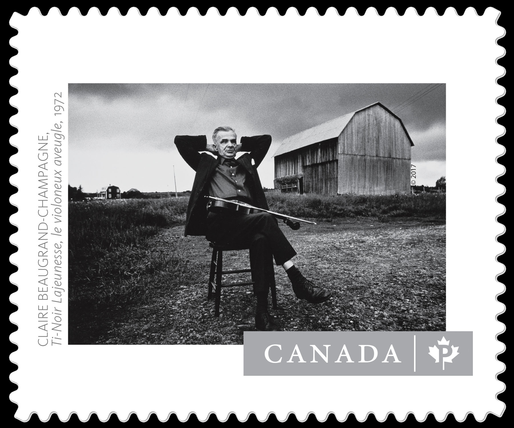 """Ti-Noir Lajeunesse, The Blind Violinist"" - Claire Beaugrand-Champagne Canada Postage Stamp 