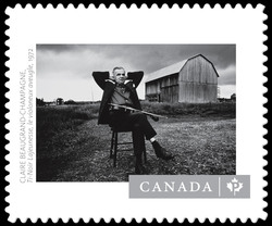 """""""Ti-Noir Lajeunesse, The Blind Violinist"""" - Claire Beaugrand-Champagne Canada Postage Stamp 