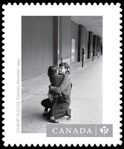 """Enlacees, Montreal, 1994"" - Gilbert Duclos Canada Postage Stamp 