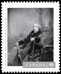 """Sir John A. Macdonald"" - William James Topley Canada Postage Stamp 